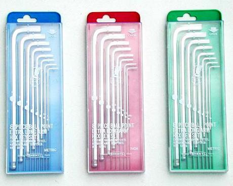 SY01-1 ~ 4 Extra Long Ball Point Hex Key Sets (Plastic Box)